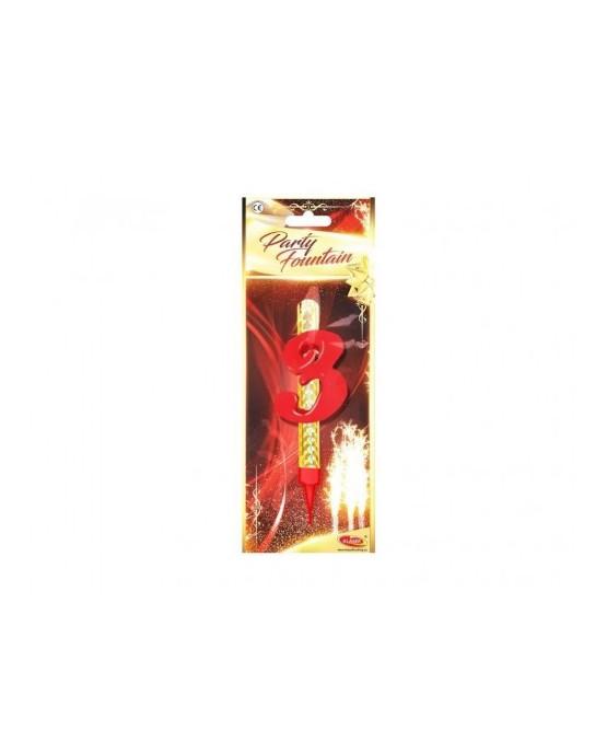 Tortová fontána 12cm - číslo 3  24ks/BAL