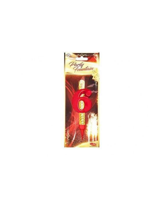 Tortová fontána 12cm - číslo 6  24ks/BAL
