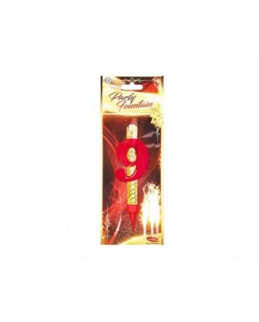Tortová fontána 12cm - číslo 9  24ks/BAL